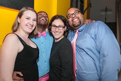 Hannah Urrey, Alvin Ford, Brenn Barber, Jerome Hunt. Studio 34 The Studio Theatre Annual Gala. Studio Theatre. February 4, 2012. Photo by Alfredo Flores