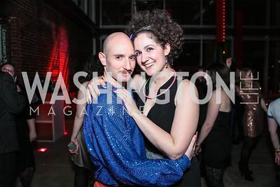 Danny Pushkin, Aviva Pressman. Studio 34 The Studio Theatre Annual Gala. Studio Theatre. February 4, 2012. Photo by Alfredo Flores