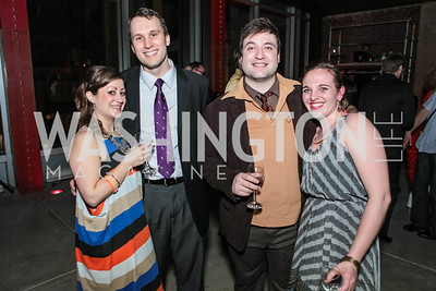 Jennifer Harris, Matt Dewberry, Jamie Clothier, Sarah Branzelle. Studio 34 The Studio Theatre Annual Gala. Studio Theatre. February 4, 2012. Photo by Alfredo Flores