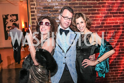 Margery Doppelt, Geoff Stewart, Carole Feld. Studio 34 The Studio Theatre Annual Gala. Studio Theatre. February 4, 2012. Photo by Alfredo Flores