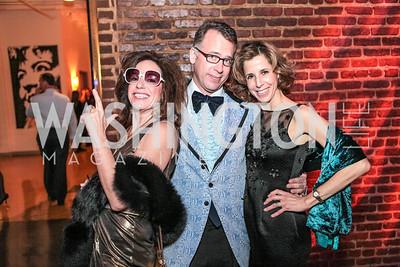 Margery Doppelt, Geoff Stewart, Carole Feld. Studio 34 The Studio Theatre Annual Gala. Studio Theatre. February 4, 2012. Photo by Alfredo Flores