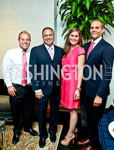 Russell Bermel, Matthew Wendel, Amanda Pittarelli, Gregg Pitts. Honoring the Promise Gala Kickoff. Photo by Tony Powell. Edwards/Fonticiella residence. July 24, 2012