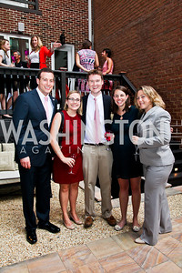 Eric Brinker, Allison Miller, Jack and Molly Hubbard, Sarah Longwell. Honoring the Promise Gala Kickoff. Photo by Tony Powell. Edwards/Fonticiella residence. July 24, 2012