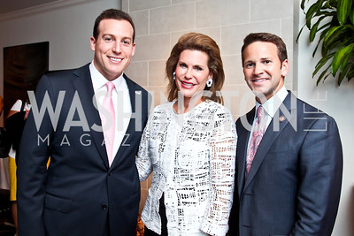 Eric and Nancy Brinker, Rep. Aaron Schock. Honoring the Promise Gala Kickoff. Photo by Tony Powell. Edwards/Fonticiella residence. July 24, 2012