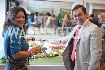 Franca DiFrancesco, Richard Seaton. TTR Sotheby's hosts an art opening for Brian Petro at their Chevy Chase office.  Photo by Ben Droz