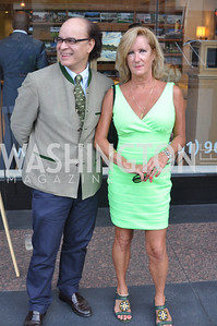 Fernando Battista, Margaret Finch, TTR Sotheby's hosts an art opening for Brian Petro at their Chevy Chase office.  Photo by Ben Droz