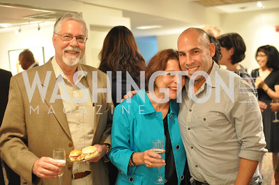 Douglas and Elizabeth Growitz, Brian Petro. TTR Sotheby's hosts an art opening for Brian Petro at their Chevy Chase office.  Photo by Ben Droz