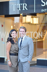Trish Yan, Bradley Nelson, TTR Sotheby's hosts an art opening for Brian Petro at their Chevy Chase office.  Photo by Ben Droz