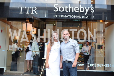 Elizabeth Grazioli, Brian Petro,  TTR Sotheby's hosts an art opening for Brian Petro at their Chevy Chase office.  Photo by Ben Droz