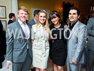 Michael Fouler, Nicole Golesorkhi, Parastoo Zahedi, Reza Golesorkhi. Washington Luxury Homes Tour Patron's Party. Photo by Tony Powell. Lowham/Ruzzo residence. May 24, 2012
