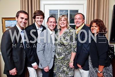 Brian Vahaly, Greg, Alex, Brenda, and Gregory Venditti, Gloria Jenson. Washington Luxury Homes Tour Patron's Party. Photo by Tony Powell. Lowham/Ruzzo residence. May 24, 2012