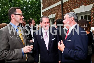 Lawrence Calvert, Stan Kelly, Chris Cushing. Washington Luxury Homes Tour Patron's Party. Photo by Tony Powell. Lowham/Ruzzo residence. May 24, 2012