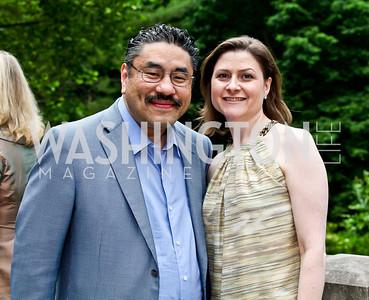 Bob and Paula Hisaoka. Washington Luxury Homes Tour Patron's Party. Photo by Tony Powell. Lowham/Ruzzo residence. May 24, 2012