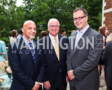 Howard Fletcher, Val McWhorter, Dave DeSantis. Washington Luxury Homes Tour Patron's Party. Photo by Tony Powell. Lowham/Ruzzo residence. May 24, 2012