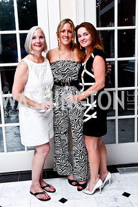 Karen Barker, Piper Gioia, Caroline Oakes. Washington Luxury Homes Tour Patron's Party. Photo by Tony Powell. Lowham/Ruzzo residence. May 24, 2012