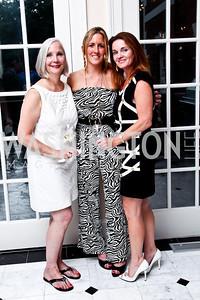 Karen Barker, Piper Gioia, Caroline Oakes. Washington Luxury Homes Tour Patron's Party. Photo by Tony Powell. Lowham/Ruzzo residence. May 24, 2012