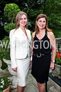 Ellie Tabar, Fariba Jahanbani. Washington Luxury Homes Tour Patron's Party. Photo by Tony Powell. Lowham/Ruzzo residence. May 24, 2012
