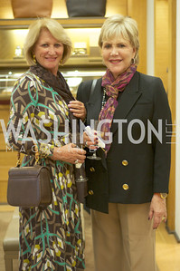 Maggie Shannon, Barbara Zuckerman. TTR Sotheby's and Cartier's, April 18, 2012. Photo by Ben Droz