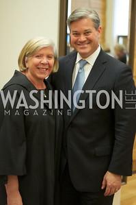 Leah Gansler, Mark Lowham.  TTR Sotheby's and Cartier's, April 18, 2012. Photo by Ben Droz