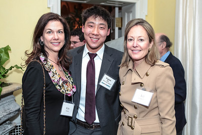 Kim Nettles, Eugene Han, Liz Underhill. Cocktail Kick-off Party for Teach For America's May 9, 2012 Gala. The home of Katherine and David Bradley. January 24, 2012. Photos by Alfredo Flores