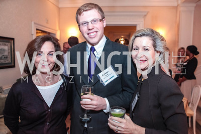 Emily Bloomfield, Connor Norwalk, Christie Weiss. Cocktail Kick-off Party for Teach For America's May 9, 2012 Gala. January 24, 2012. Photos by Alfredo Flores
