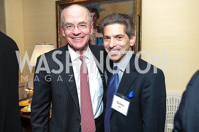 David Lawson, Robert Haft. Cocktail Kick-off Party for Teach For America's May 9, 2012 Gala. The home of Katherine and David Bradley. January 24, 2012. Photos by Alfredo Flores