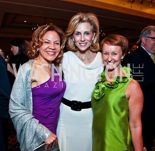 Tamara Harris, Gala Chair Katherine Bradley, Gala Chair Kristin Ehrgood. Teach for America Gala. Ritz Carlton. Photo by Tony Powell. May 9, 2012