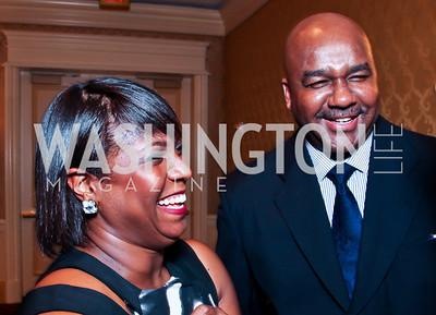 Gala Chairs Monica Moore Thompson and John Thompson III. Teach for America Gala. Ritz Carlton. Photo by Tony Powell. May 9, 2012