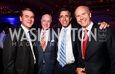 Sen. Michael Bennet, David Bradley, Josh Rales, John Delaney. Teach for America Gala. Ritz Carlton. Photo by Tony Powell. May 9, 2012