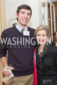 Ezra Miller, Christie Weiss. Teach for America Fall Gala Kick-off‏. Photo by Alfredo Flores. Home of Christine Rales. November 7, 2012