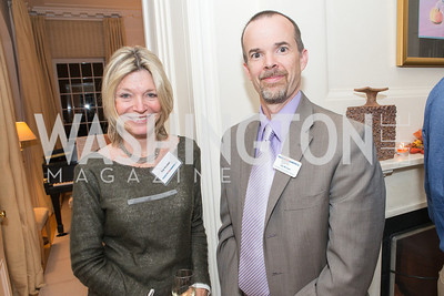 Kay Kendall, Jay McClain. Teach for America Fall Gala Kick-off‏. Photo by Alfredo Flores. Home of Christine Rales. November 7, 2012