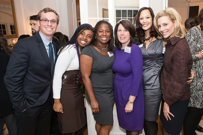 Kristofer Comeforo, Halaina Bullock, Monica Moore Thompson, Joey Sloter, Ahnna Smith, Katherine Bradley. Teach for America Fall Gala Kick-off‏. Photo by Alfredo Flores. Home of Christine Rales. November 7, 2012