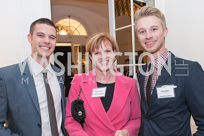 Drew Gallagher, Nancy Fletcher, Tyler Anders. Teach for America Fall Gala Kick-off‏. Photo by Alfredo Flores. Home of Christine Rales. November 7, 2012