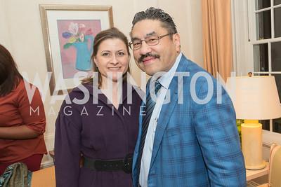 Paula Hisaoka, Bob Hisaoka. Teach for America Fall Gala Kick-off. Photo by Alfredo Flores. Home of Christine Rales. November 7, 2012
