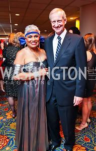 DC Chamber of Commerce President Barbara Lang, DC Councilman Jack Evans. The 2012 Rammy Awards Gala. Photo by Tony Powell. Marriott Wardman Park. June 24, 2012