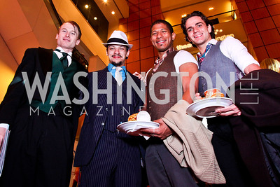 Philip Fletcher, Ryan Sellers, JR Russ, Jeremy Pace. The 28th Helen Hayes Awards. Photo by Tony Powell. April 23, 2012