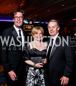 Board treasurer Kurt Crowl, Marcy and Mickey Berra. The 28th Helen Hayes Awards. Photo by Tony Powell. April 23, 2012