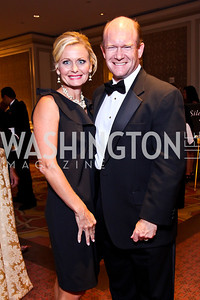 Co-Chairs Annie Coons and Sen. Chris Coons. The 34th Annual Ambassadors Ball. Photo by Tony Powell. Ritz Carlton. September 12, 2012