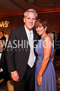 Majority Whip Kevin McCarthy and Judy McCarthy. The 34th Annual Ambassadors Ball. Photo by Tony Powell. Ritz Carlton. September 12, 2012