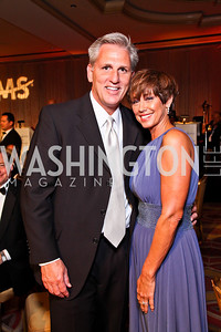 Majority Whip Kevin McCarthy and Judy McCarthy. The 34th Annual Ambassadors Ball. Photo by Tony Powell. Ritz Carlton. September 12, 2012