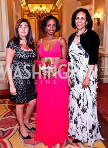 Bahrain Amb. Houda Nonoo, St. Vincent and the Grenadines Amb. La Celia Prince, Oman Amb. Hunaina Al-Mughairy. The 34th Annual Ambassadors Ball. Photo by Tony Powell. Ritz Carlton. September 12, 2012