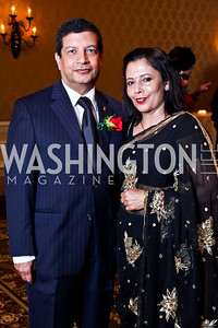 Nepal Amb. Shankar Sharma and Kalpana Sharma. The 34th Annual Ambassadors Ball. Photo by Tony Powell. Ritz Carlton. September 12, 2012