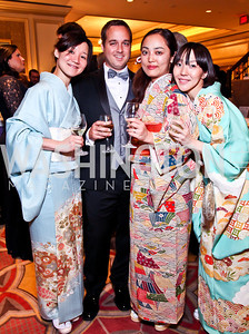 Reiko Hirai, Everett Greenstreet, Maki Fukami, Mamiko Hirai. The 34th Annual Ambassadors Ball. Photo by Tony Powell. Ritz Carlton. September 12, 2012