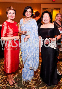 Antonia Gore, Gouri Mirpuri, Vicky Cuisia. The 34th Annual Ambassadors Ball. Photo by Tony Powell. Ritz Carlton. September 12, 2012