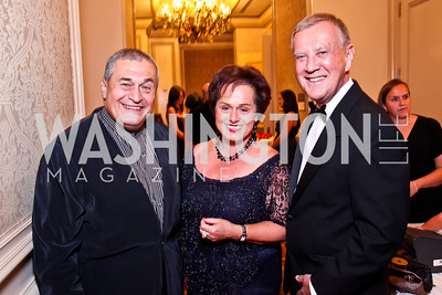 Tony Podesta, Liechtenstein Amb. Claudia Fritsche, Dennis Wholey. The 34th Annual Ambassadors Ball. Photo by Tony Powell. Ritz Carlton. September 12, 2012