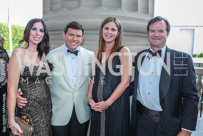Amy Baier, Bret Baier, Mae Grennan, Ande Grennan. The Children's National Black and White Ball. Mellon Auditorium. May 12, 2012. Photo Alfredo Flores