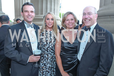 Evan Jonas, Cindy Jones, Alison Newman, Kurt Newman. The Children's National Black and White Ball. Mellon Auditorium. May 12, 2012. Photo Alfredo Flores