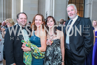H. Alex Henry, Jacquie Henry, Betsy Owen, Charles Owen. The Children's National Black and White Ball. Mellon Auditorium. May 12, 2012. Photo Alfredo Flores