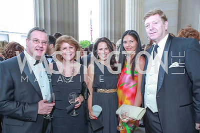Daniel Joyce, Dianne Wicklein, Margrita Arroyave-Wesse, Carolina DeSouza, David Wessel. The Children's National Black and White Ball. Mellon Auditorium. May 12, 2012. Photo Alfredo Flores
