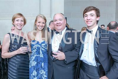 Kathryn Blair, Caroline Blair, Andrew Blair, Carter Blair. The Children's National Black and White Ball. Mellon Auditorium. May 12, 2012. Photo Alfredo Flores